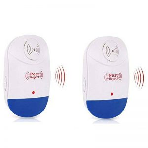 MRSLIU Répulsif Anti-Moustique Ultrasonique -Eletronic Anti-Parasitaires Intérieur Anti-Odeur Inodore Non-Toxique,2 de la marque MRSLIU image 0 produit