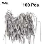 MySit 100 Piquets de fixation en acier Galvanise agrafes de jardin 150 mm, 25 mm large, Ø 3,0 mm en forme de U traité antirouille la fixation paysage des tissus anti mauvaises herbes molleton imperméables de la marque MySit image 4 produit