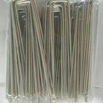 MySit 100 Piquets de fixation en acier Galvanise agrafes de jardin 150 mm, 25 mm large, Ø 3,0 mm en forme de U traité antirouille la fixation paysage des tissus anti mauvaises herbes molleton imperméables de la marque MySit image 3 produit