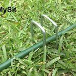 MySit 50 Piquets de fixation en acier Galvanise agrafes de jardin 150 mm, 25 mm large, Ø 3,0 mm en forme de U traité antirouille la fixation paysage des tissus anti mauvaises herbes molleton imperméables de la marque MySit image 3 produit