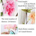 MZMing 2pcs x235cm Fleur Artificielle Sakura Suspendus Vignes Guirlande Beau et charmant Simulation Plante Fleur Feuilles de vigne pour la Fête de Famille Clôture de Jardin Mariage de Noel Décoration- Rouge de la marque MZMing image 2 produit