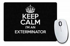 Noir Keep Calm I'm un Exterminateur Tapis de souris Couleur 3273 de la marque Duke Gifts image 0 produit