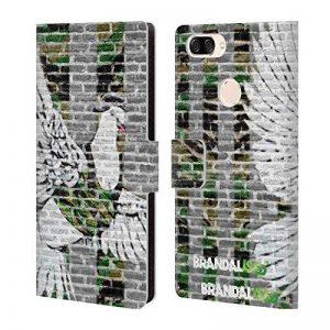 Officiel Brandalised Pigeon Banksy Art Coloré De La Rue Étui Coque De Livre en Cuir pour Zenfone Max Plus (M1) de la marque Head Case Designs image 0 produit