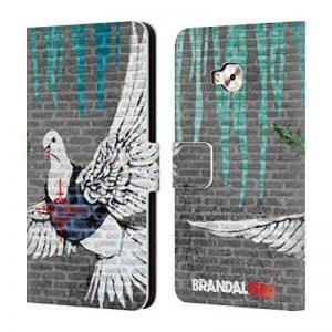 Officiel Brandalised Pigeon Pare-Balles Banksy Art A Coloré Gouttes Étui Coque De Livre en Cuir pour Zenfone 4 Selfie Pro ZD552KL de la marque Head Case Designs image 0 produit