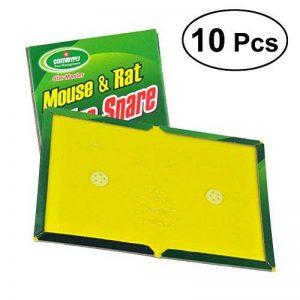 OUNONA Tablette pour les petits rongeurs Souris rat colle Conseil collant souris pièges à colle grand non-toxique environnement produits antiparasitaires - 10pcs de la marque OUNONA image 0 produit