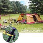 Pawaca 6-pack Tente de camping Piquets, 20,3cm/20cm haute résistance en acier Heavy Duty Piquets de tente de remplacement Camping solide Piquets Noir 15.7inch/40cm de la marque Pawaca image 2 produit