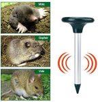 Petacc 2Pcs Répulsif à Ultrasons Répulsif Rat Ultrason Solaire Repousseur Nuisible, Serpent et Rat Extérieur pour Ferme, Jardin et Pelouse (2Pcs) de la marque Petacc image 1 produit