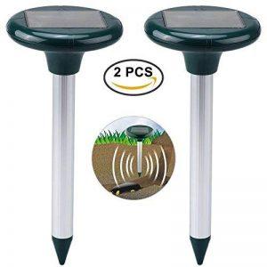 Petacc 2Pcs Répulsif à Ultrasons Répulsif Rat Ultrason Solaire Repousseur Nuisible, Serpent et Rat Extérieur pour Ferme, Jardin et Pelouse (2Pcs) de la marque Petacc image 0 produit