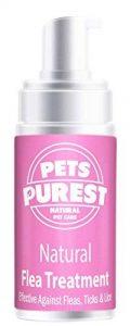 Pets Purest Traitement aux puces 100% naturel pour chiens, chats et animaux de compagnie | Tue et prévient les puces, les tiques et les poux | Formule 100% naturelle puissante et concentrée | Aidez-nous à arrêter les démangeaisons et les égratignures chez image 0 produit