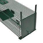 Piège de capture - Cage -XL - Pour petits animaux : Lapins, chats, martres, fouines - 100x25x25cm - Deux entrées - 5007 de la marque Moorland image 3 produit