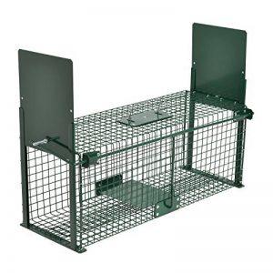Piège de capture - Cage - L - Pour petits animaux : Lapins, rats, martres, fouines - 61x21x23cm Deux entrées + Poignée de la marque Moorland image 0 produit