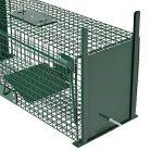 Piège de capture - Cage - L - Pour petits animaux : Lapins, rats, martres, fouines - 61x21x23cm Deux entrées + Poignée de la marque Moorland image 3 produit