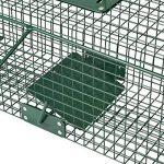Piège de capture - Cage - L - Pour petits animaux : Lapins, rats, martres, fouines - 61x21x23cm Deux entrées + Poignée de la marque Moorland image 4 produit