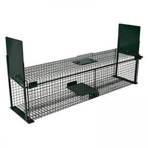 Piège de capture - Cage -XL - Pour petits animaux : Lapins, chats, martres, fouines - 100x25x25cm - Deux entrées - 5007 de la marque Moorland image 0 produit