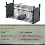 Piège de capture infaillible - Cage - Pour petits animaux: lapins, rats, rongeurs - 50x18x18cm - Avec deux entrées 5006 de la marque Moorland image 1 produit