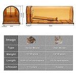 Piège humain intelligent de rongeur, attrapent et relâchent, aucun meurtre, enfants / animal de compagnie sûrs, faciles à placer, pour l'intérieur / extérieur, boîte réutilisable de cage, pour le petit rat / souris / hamster / attrape-taupe qui fonctionne image 2 produit