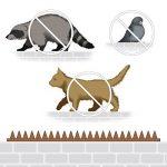 Piques pour murs et barrières Crampons Anti-oiseaux 4 Panneaux Longueur totale: 196 cm de la marque Relaxdays image 1 produit