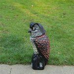 Épouvantail - action du vent - actionné par le vent - répulsif pour oiseaux, éloigne les oiseaux et les animaux nuisibles tels que les pigeons des zones de jardin de la marque Lembeauty image 4 produit
