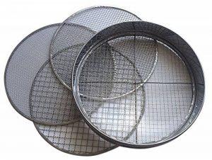 Practicool Tamis avec treillis en acier inoxydable 4 tailles de mailles interchangeables Tailles 3 / 6 / 9 / 12mm de la marque Practicool image 0 produit