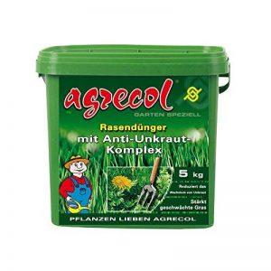 Premium Engrais pour gazon avec herbicide contre mauvaises herbes dans le gazon–suffisamment de 5kg pour 250m² de la marque Agrecol image 0 produit