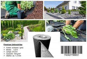 Premium toile/toison anti-mauvaises herbes - 150g/m² - 25m x 1m = 25m² de la marque Proglas GmbH image 0 produit