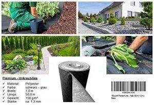 Premium toile/toison anti-mauvaises herbes - 150g/m² - 50m x 1m = 50m² de la marque Qualitätsvlies trading-point24 Denise Richter image 0 produit