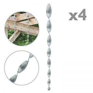 PrimeMatik - Épouvantail Barre Spirale Suspendue Répulsif D'oiseaux 50cm tournant 360º pour Jardin 4-Pack de la marque PrimeMatik.com image 0 produit
