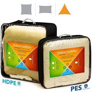 Purovi Voile d'ombrage | Triangulaire avec Protection anti-UV | En Polyéthylène Haute Densité Perméable à l'air | 5m x 5m x 5m en PE-HD de la marque Purovi image 0 produit