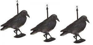 Rabe/krähe/taubenschreck/suspension pour effaroucher les oiseaux/épouvantail 38 cm noir de la marque Hillfield image 0 produit