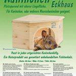 Resch Numéro15 Maison d'angle pour lapin / Bois massif d'épicéa, non traité / Très économe / Dotée d'une entrée extra large de la marque Resch Heimtierbedarf image 2 produit