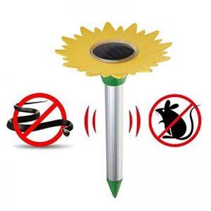 Répulseur de taupe solaire, SW-Ning motif de tournesol Ultrasons Répulsif de souris de rat pour le jardin de pelouse Cour de ferme En plein air Snake Pest Control de la marque SW-Ning image 0 produit