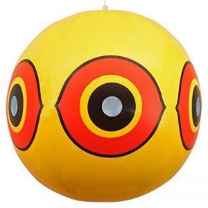 Répulsif Oiseaux Scary Eye Ballons?: Stop Nuisibles Oiseaux Problèmes. Fiable rapide dispositif dissuasif visuel?: sécuriser votre Propriété contre les dommages/Mess. Ward Off Pic, pigeons, moineaux. 100% Remboursement garanti. de la marque De-Bird image 0 produit