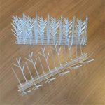 Répulsif Pigeon Kit Pics Oiseaux en Plastique Transparents 10 x 30cm (3 m) Pour Oiseaux Gel dissuasif Transparent de la marque Aspectek image 2 produit