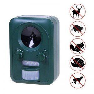 Répulsif solaire à ultrasons - Anti nuisibles - Longue portée - Protecteur de jardin à fréquence réglable - Stop chats rongeur rapaces insectes de la marque PRATIPLUS image 0 produit