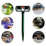 Répulsif ultrasonique extérieur de ravageur, Surenhap Répulsif solaire imperméable d'animal pour la cour, pelouse, jardin - Repeller des chats, des chiens, des souris, des serpents, des renards, des taupes, des oiseaux et d'autres animaux de la marque Sur image 4 produit