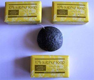 Savon de soufre Points d'acné Traitement des épines 3 x Savons 1 x Konjac Sponge de la marque Herbalis image 0 produit