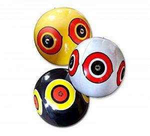 SEICOSY Bird Répulsif Scary œil Ballons Pegion & Sparrow Deterrnet Ultrasonore Ballon Lot de 3(Jaune + Noir + Blanc) de la marque SEICOSY image 0 produit
