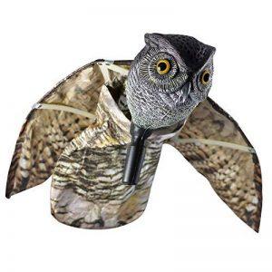 Seicosy Bubo Pest dissuasif avec des ailes mobiles–réaliste peur à oiseaux, rongeurs, nuisibles, Épouvantail–Chouette Pest Control de la marque SEICOSY image 0 produit