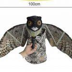 Seicosy Bubo Pest dissuasif avec des ailes mobiles–réaliste peur à oiseaux, rongeurs, nuisibles, Épouvantail–Chouette Pest Control de la marque SEICOSY image 1 produit