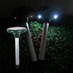 Serpent Répulsif solaire à ultrasons Répulsif animaux double Lampes LED respectueux de l'environnement appareil Sonic Répulsif Mouse Bird Dog Control Device dissuasif Faux de la marque Lembeauty image 1 produit