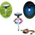 Serpent Répulsif solaire à ultrasons Répulsif animaux LED colorées respectueux de l'environnement appareil Sonic Répulsif Mouse Bird Dog Control Device dissuasif Faux de la marque Lembeauty image 1 produit
