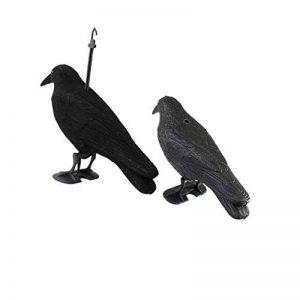 Sharplace Paire Épouvantail Corbeau Figurine Artificielle Leurre Oiseau Jardin Ornement Halloween de la marque Sharplace image 0 produit