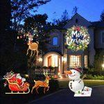 Signstek LED Projecteur IP44 avec 16 Diapositives changeables ,Contrôlé par la Télécommande, Lampe Idéal de Décoration pour Noël, Mariage, Halloween, Anniversaire, Fête et Soirée de la marque Signstek image 4 produit