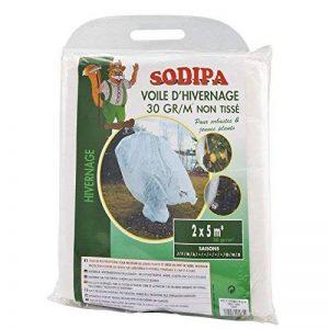 Sodipa 02681 Voile d'hivernage 2 x 5 m 30 g/m² Blanc de la marque Sodipa image 0 produit