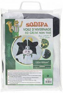 Sodipa 06278 Vache Voile d'Hivernage Blanc 130 x 160 cm de la marque Sodipa image 0 produit