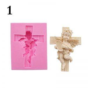 Sptember 3d bébé ange Fondant Moule à Cake faite à la main Savon Moule Moule à gâteau (Croix pigeon Angel) de la marque SPTEMBER image 0 produit
