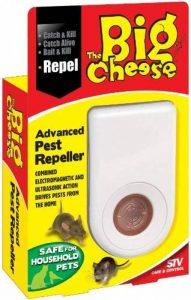 STV International Répulsif avancé The Big Cheese (sans cruauté, ultrasons, ondes électromagnétiques pour faire fuir les rongeurs, repousser les rats et souris loin de la maison, fonctionne par le câblage à atteindre dans les murs et plafonds) de la marque image 0 produit