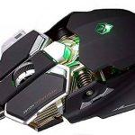 SUMLINK 4000 DPI Filaire USB Souris de Gaming Professionnelle avec 10 Boutons de Programmation Optique LED Nano Ergonomique et Plus de Base en Aluminium (Noir) de la marque SUMLINK image 2 produit