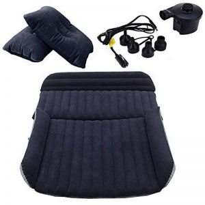 SUV Auto Voiture gonflable Air Matelas lit pour siège arrière de voitures SUV de camions et de taille moyenne en extérieur de voyage, PVC, SUV Black, 2 oreillers de la marque LABABE image 0 produit