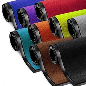 Tapis d'entrée absorbant etm® intérieur et extérieur | résistant, lavable | gris - 90x150cm de la marque etm image 0 produit